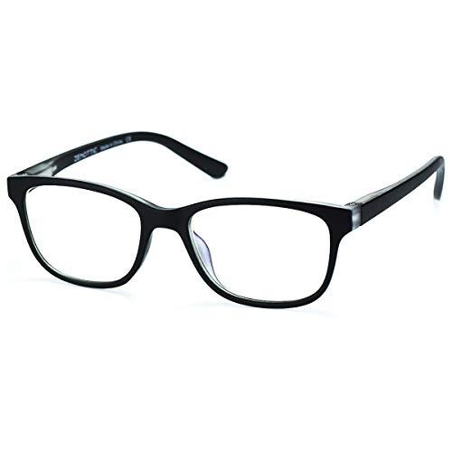 ZENOTTIC Gafas Infantiles de Bloqueo de Luz Azul para Ordenadores Gafas de Juego de Lentes Antirreflejos y Ligeros Protección de Ojos para Niños y Niñas (NEGRO + CRISTAL)