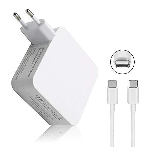 SiKER Cargador de Adaptador de Corriente USB Tipo C 65W / 61W para Apple MacBook/Pro, Lenovo, ASUS, Acer, DELL, Xiaomi Air, Huawei Matebook, HP Spectre, Thinkpad y Cualquier Otra