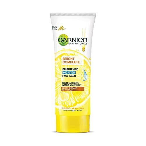 Garnier Bright Complete BRIGHTENING DUO ACTION Face Wash, 100g