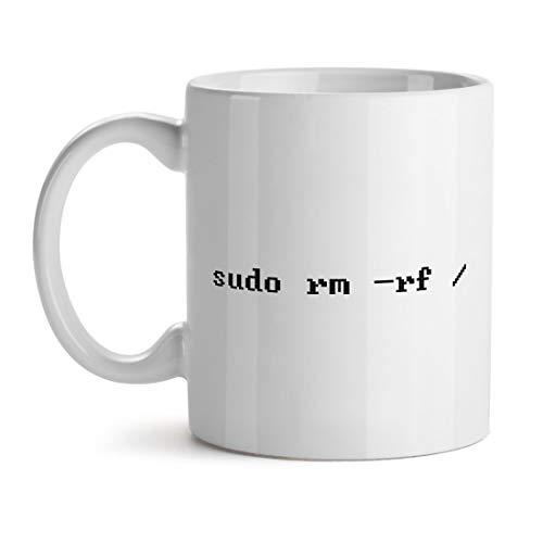 Sudo Rm Rf Programmer Geek - Inspirierendes einzigartiges beliebtes Büro-Tee-Kaffeetasse-Geschenk