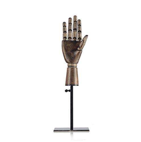 TYPING Madera Articulada Maniquí de Mano Soporte Juntas movibles Joyería Exhibición de Estante de Reloj Modelo de Mano protésica Escaparate de la Tienda,4