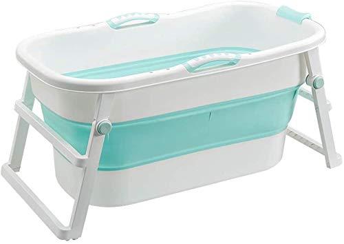 Folding Adult Badkuip Draagbare Badkuip, Huishoudelijke Grote Badkuip Opvouwbare Douchebak, Comfortabele Volwassen Badkuip Badkamer Accessoires Blauw