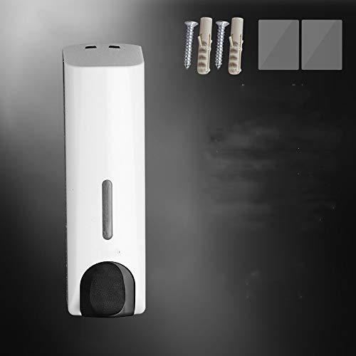 oppinty Handwaschgelegenheit Duschgelbox Wandseifenspender Flüssigkeitsflasche Pressen Flüssigkeitsflasche Seifenspender Einzelkopf weiß - freier Locher