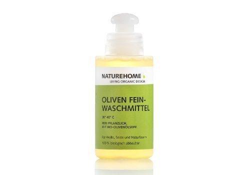NATUREHOME Olivenwaschmittel - für Wolle und Seide 120ml Reisegröße für Allergiker Waschmittel Feinwaschmittel Rein Pflanzlich 30 bis 40 Grad