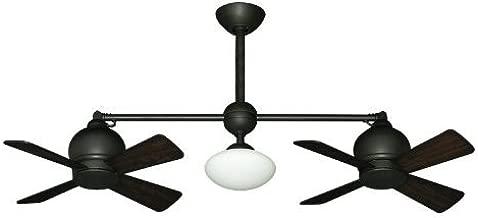 Metropolitan Modern Double Ceiling Fan in Oil Rubbed Bronze with Light & Remote