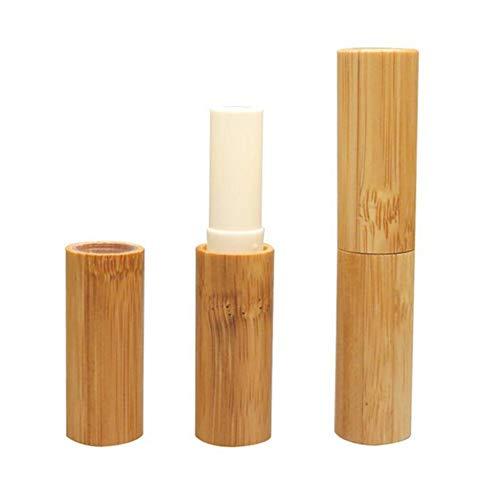 3 STÜCKE 3 ML 0,1 UNZE Leere Bambus Lippenbalsam Rohr Tragbare Durable Lippenstift Kreide Chapstick Dispensing Gläser Fläschchen Kosmetische DIY Container Halter