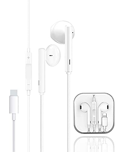 Auricolari In-Ear Cuffie per iPhone, Auricolari stereo HiFi cablati con microfono e controllo del volume, Compatibili con iPhone 8/8 Plus/7/7 Plus/12/12 Pro/SE/11/11 Pro Max/XS/X/XR