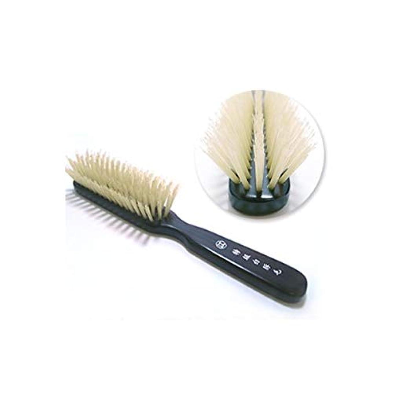 ドアミラーグレードテロリスト特級白豚毛5行植えヘアブラシ 創業300年江戸屋の白豚毛ヘアブラシ ショートヘアまたは髪ボリュームがやや少な目の方向け 獣毛ヘアブラシ 心地よい頭皮刺激