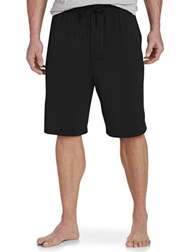 Harbor Bay by DXL Big and Tall Performance Jam Shorts, Black, 3X
