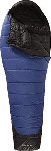 Nordisk - GORMSSON Schlafsack, Außenmaterial aus 30 D Nylon, klassischer Mumienschlafsack, integrierte Fußtasche, Größe XL, -10 Grad, Blau