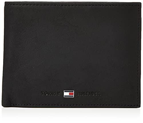 Tommy Hilfiger Johnson CC Flap And Coin Pocket, Porta Carte di Credito Uomo, Nero, 75 cm