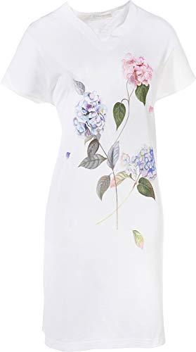 Hutschreuther Damen-Nachthemd Single-Jersey weiß/blau/rosa Größe 46