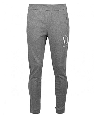 Armani Exchange Icon Tracksuit Bottom Pantalon De Sport, Gris (Bc09 Grey 3930), 50 (Taille Fabricant: Medium) Homme
