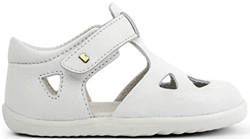 Bobux Step Up Zap Closed Sandal_Primeros Pasos – Sandali da bambino Bobux, in pelle Bianco Size: 19 EU