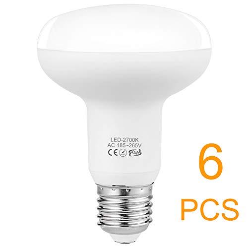 E27 LED Warmweiss, 75W Glühbirne(9W LEDs), Dimmbar LED Reflektorlampe E27 2700K 900 Lumen 185-265V, 6er-Pack