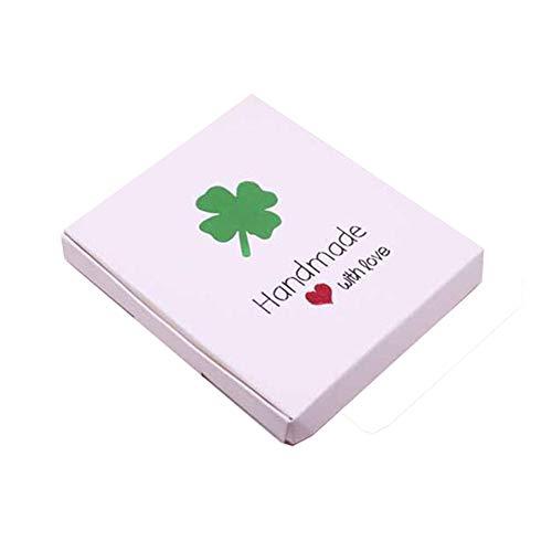Geschenkdoos BLTLYX Diy Multi-stijlen Geschenk/snoep/verpakkingsdoos Diy Handgemaakt met liefde Kartonnen Geschenkpakket & Bruiloft Favourate Box 20PCS 85X85X10MM 17