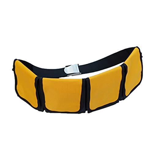 SM SunniMix Softbleigurt Taschen Bleigurt Bleigürtel Tauchgewicht Taschenbleigurt - 4 Tasche