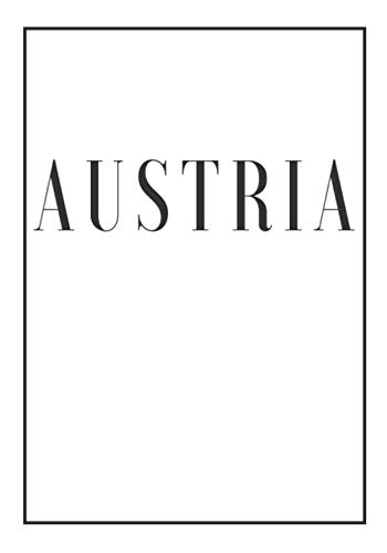 Austria: A white decorative book for coffee tables, bookshelves and end tables: Stack Country decor books to add home decoration to bedrooms, ... own home or as an interior design savvy gift.