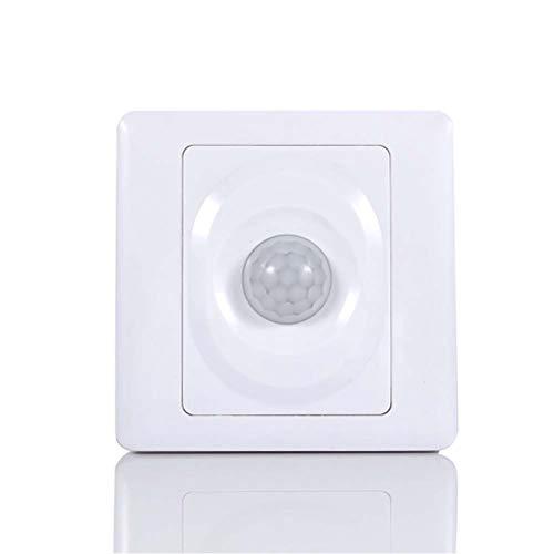 Fansheng Interruptor Sensor movimiento Del Cuerpo,atenuador Luz LED, 220 V, Cuerpo infrarrojo automático para montaje en pared, luz nocturna LED, aplicaciones amplias (blanco)