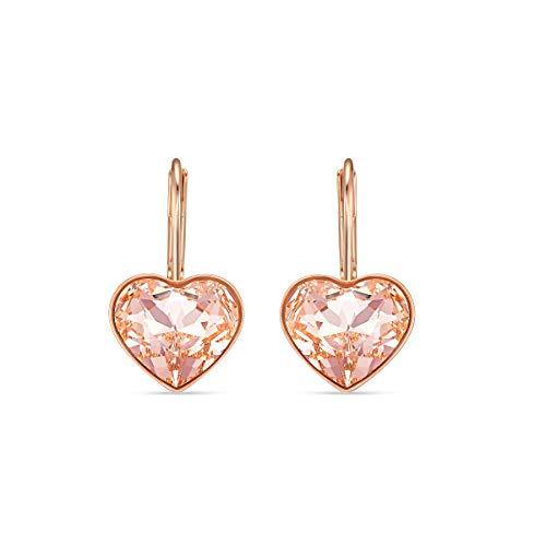 Swarovski Orecchini Bella Heart, Rosa, Placcato Colore Oro Rosa