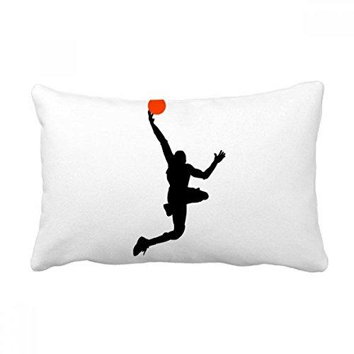 DIYthinker Capa de almofada para esportes, basquete, corrida, batida, almofada com enchimento lombar para decoração de casa