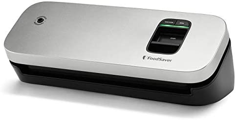 FoodSaver 31161366 Space Saving Food Vacuum Sealer 5 7 x 12 2 x 4 3 inches Silver product image