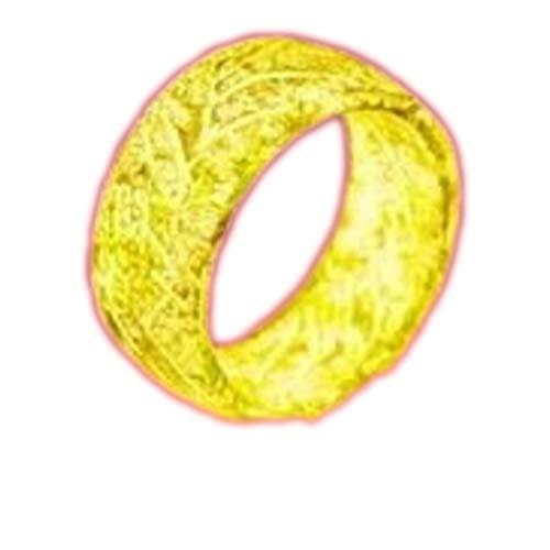 Dan&Dre Harz Gebrochene leuchtende Farbe ändern coolen Trend leuchtenden magischen Ring, Leuchtring leuchtet im Dunkeln, Schmuck, Unisex-Dekoration für Damen und Herren