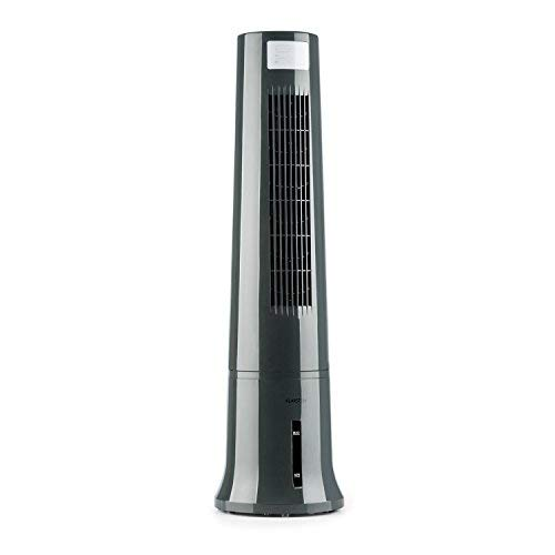 Klarstein Highrise Pure Edition - Fan, Air Cooler, Humidifier, Air Purifier, 45 W, 2.5 L, 3 Levels, 3 Ventilation Modes, Ice Pack, Oscillation, Timer Status, Remote Control, Grey