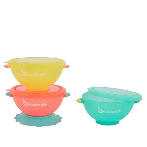 Badabulle B005104 - Funcolors bowls badabulle lote de 3 cuencos, unisex