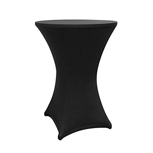 Lumaland hochwertige Stehtischhusse in verschiedenen Farben und Größen Schwarz 80 bis 85cm