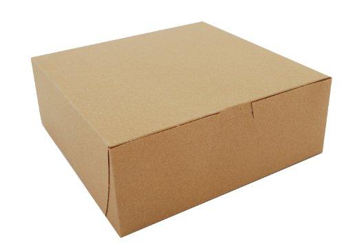 "Southern Champion Tray 0937K Kraft Paperboard Non Window Lock Corner Bakery Box, 8"" Length x 8"" Width x 3"" Height (Case of 250)"