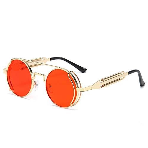 FGVBWE4R 2020 Nuevas gafas de sol Personalidad de los hombres Steampunk Metal Gafas de doble resorte Gafas de sol Salvajes Mujeres, H, M