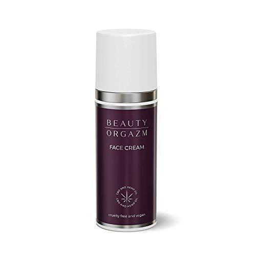Beauty Orgazm® Anti-Aging Gesichtscreme mit Bio Hanf Öl und Hyaluronsäure, vegane Naturkosmetik - Feuchtigkeitscreme mit Avocado-Öl, Argan-Öl, Sheabutter & Aloe Vera, für glattere Haut, 50ml