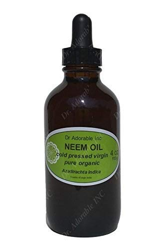 Neem Oil For Skin And Hair 4 oz Amber Glass Bottle with Glass Dropper