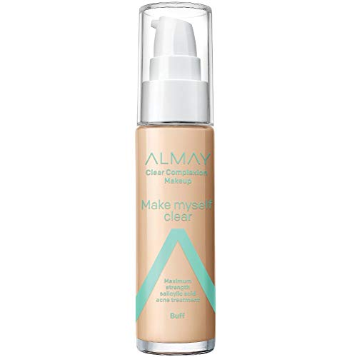 Almay Clear Complexion Makeup, Hypoallergenic, Cruelty Free, Dermatologist Tested Foundation, 1oz