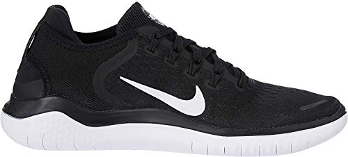 Nike Men's Free RN 2018 Nylon Running Shoes 9.5 Black/White