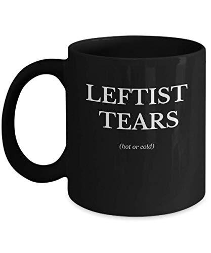 Leftist Tears Hot or Cold Black Coffee Mug - Anti SJW Funny Gag Gift