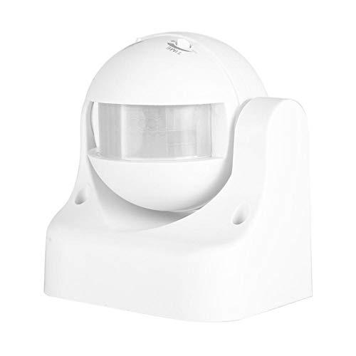 Interruptor de Sensor de Infrarrojos Nivel de protección IP44 Mini Interruptor de Sensor Enciende automáticamente la Carga, para Puertas, pasillos, pasillos, Ascensores, Balcones(White)