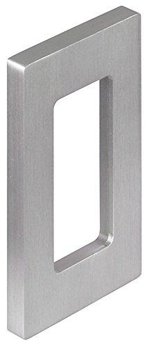 Design Glastürgriff zum Kleben Möbelgriff Edelstahl Muschelgriff eckig für Glastüren - H3700 | Griffmuschel zum Aufkleben | 200 x 60 x 10 mm | 1 Stück Klebegriff für Schiebetüren & Zimmertüren
