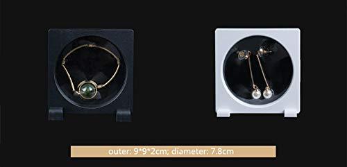 Weier. Ben PE dunne laag versiering sieradendisplay box sieraden opslagrek voor ring halsketting armband oorring transparant container box Zwarte ronde