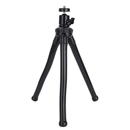Trípode de escritorio, trípode ajustable flexible con tornillo de 1/4 de pulgada para exteriores para cámara(L)