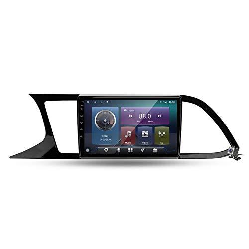 Autoradio con Navigatore GPS con Android 10 9' Touch Screen per Seat Leon 3 2012-2020 Supporta Bluetooth/Mirrorlink/Video e Audio Player/FM AM RDS DSP Stereo Auto Radio/SWC,M500