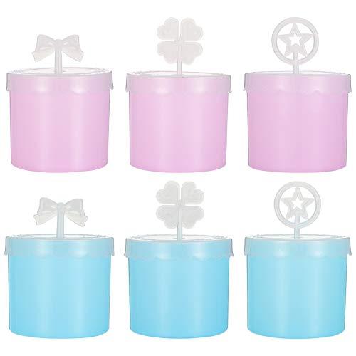 Lurrose 6 Botellas de Jabón de Espuma de Plástico Limpiador Facial Fabricante de Burbujas para Viajes Cuidado de La Piel Fabricante de Espuma para Mujeres Niñas Rosa Y Azul