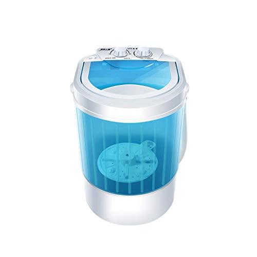 Mini Waschmaschine, tragbare Waschmaschine for Compact Wäscherei, Kleinhalbautomatische Compact Waschmaschine mit Timer-Steuerung Einzeldurchlässiger Tub 2.6lbs Kapazität (Blau + Weiß) yqaae