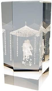 Alef Judaica 3D Crystal Jewish Wedding Canopy Chuppah Gift