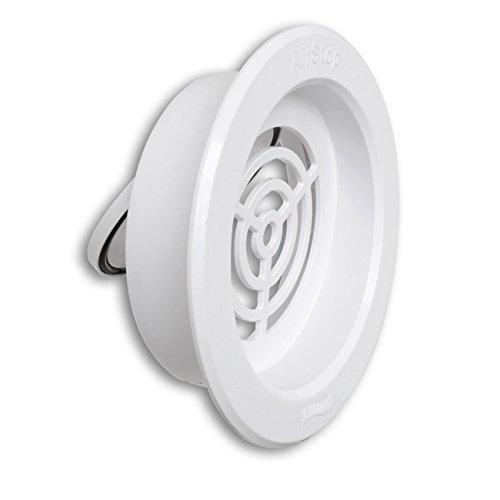 La ventilación airsb Válvula antirretorno de PVC, blanco