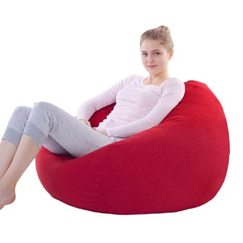 QVONTON ビーズクッション 人をダメにするソファ どんな座り方でもくつろぐ 洗える 取り外し可能 もちもち 深く座るクッション 特大 クッション 軽量 豆袋 座布団 柔らか ふらふら 低反発 耐久性も高く 8色選択 80*90cm