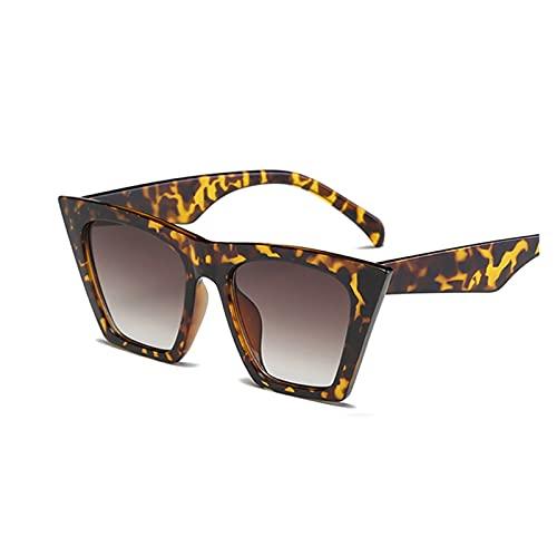 Moda Negro Gato Ojo Gafas de Sol Mujeres diseñador de Marca Sexy Elegante Sol Gafas para Las Mujeres Tonos de Revestimiento Femenino UV400 (Lenses Color : Leopard)