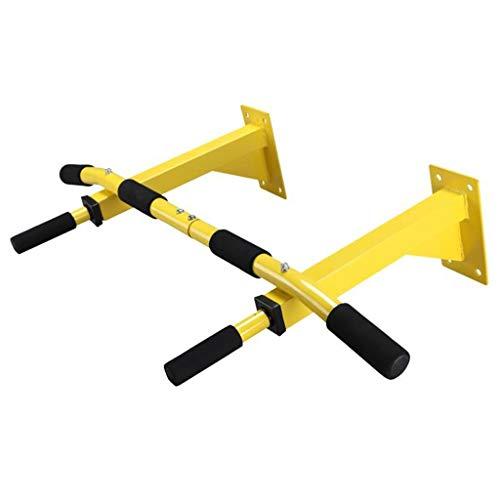 Zcyg Barra de entrenamiento superior del cuerpo barra de entrenamiento montada en la pared, bolsa de boxeo para gimnasio en casa y soporte de entrenamiento TRX (color: amarillo)