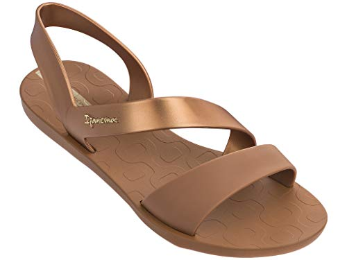 Ipanema Women's Vibe Sandal, Beige/Bronze, 5